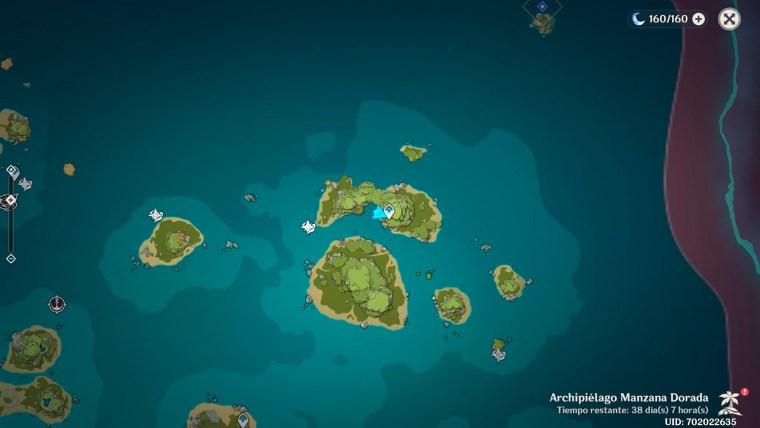genshin impact al otro lado de la isla y el mar - localizacion cueva secreta islas hermanas