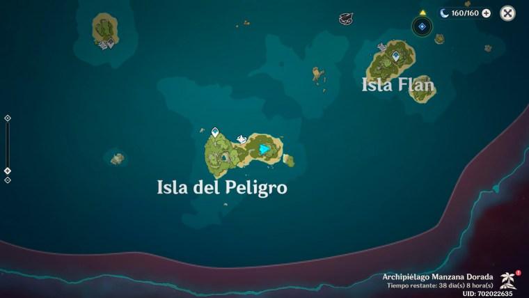 genshin impact murales isla del peligro