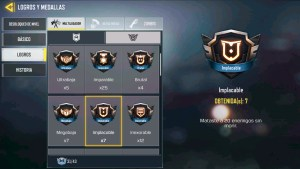 Medalla Implacable en Call of Duty Mobile