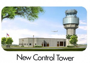 Rendering of the new FAA Air Traffic Control Tower for FXE