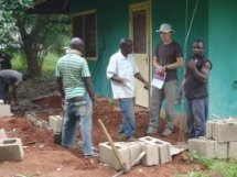 Mark and local laborers