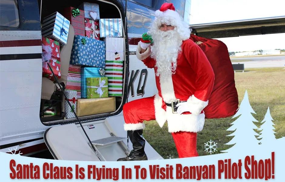 Photos with Santa at Banyan Pilot Shop