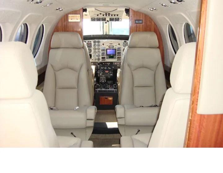 2008 King Air C-90GTi interior