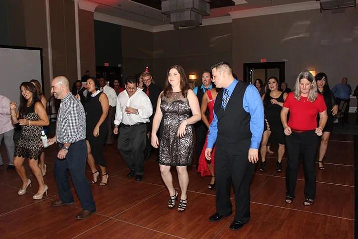 Banyan holiday party dancing