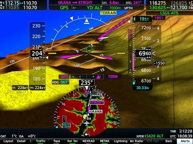 Garmin G1000 NXi Terrain Alerting