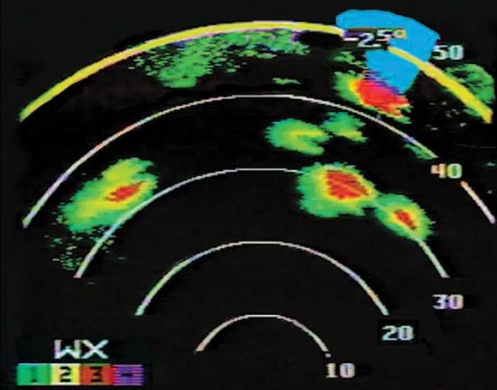 Honeywell Weather Radar screen 1