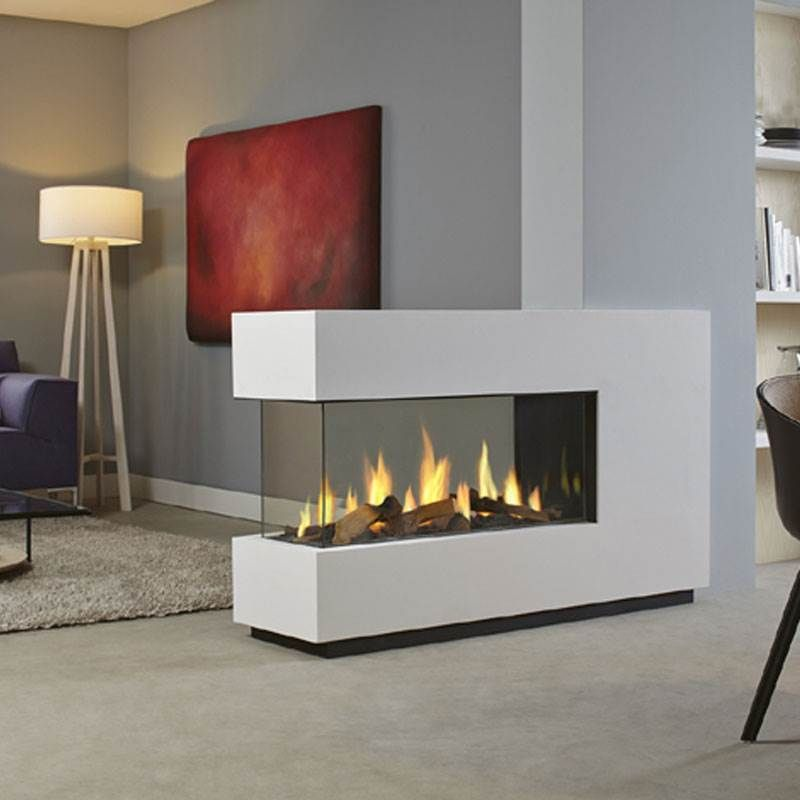 DRU Metro 100XT3 Eco Wave Gas Fire  Banyo Fireplace