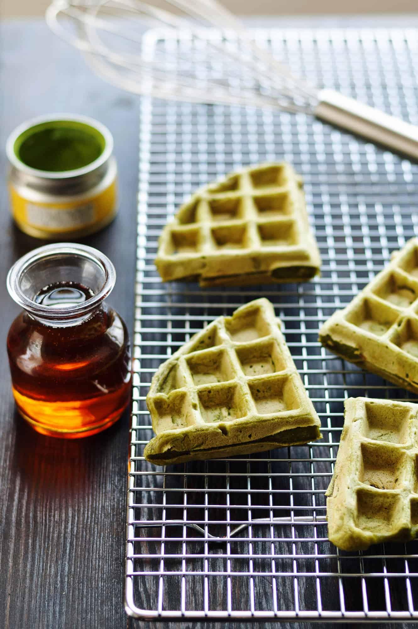 【蛋白粉食譜】甜品也可高蛋白 抹茶窩夫(無蛋奶純素) - 保健堡