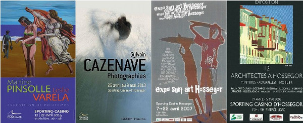 Affiches d'expositions au Sporting Casino