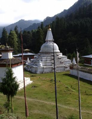 Un chorten au Bhoutan