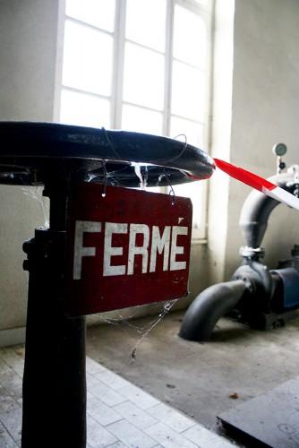 Détail à l'intérieur de l'ancienne usine hydraulique de Cognac