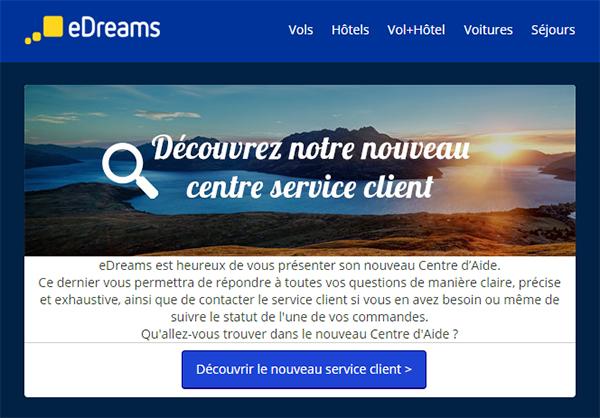 """Le soit disant """"nouveau"""" service client eDreams"""