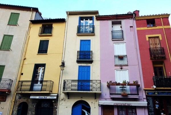 Façades colorées à Collioure