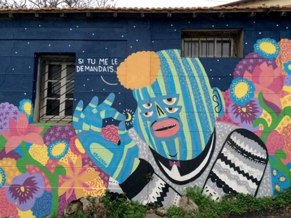 Fresque de Kashink en bas du chemin du Biscan Pas
