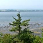 Vue sur l'Île d'Orléans depuis le Moulin de Beaumont - Québec