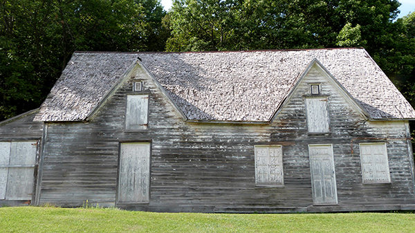 Ancienne baraque pour les migrants en quarantaine sur Grosse Île - Québec