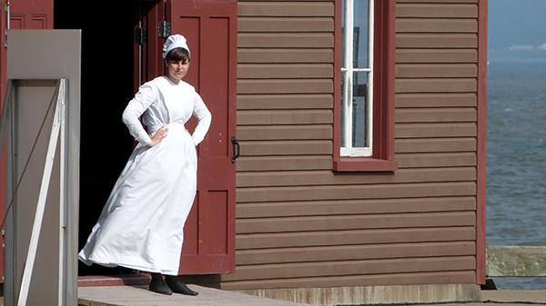 Visite en habits d'époque sur Grosse Île - Québec