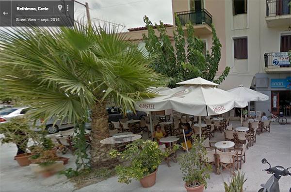 Une très bonne adresse loin des attrape-touristes : le bar en face du Iroon Politechniou Square à Rethymnon