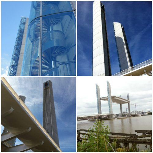Montage photo du Pont Chaban Delmas pour observer Bordeaux en version panoramique