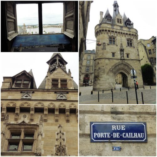 Montage photo de la Porte Cailhau à Bordeaux