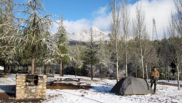 Le camping même en hiver ©Spicerabbits