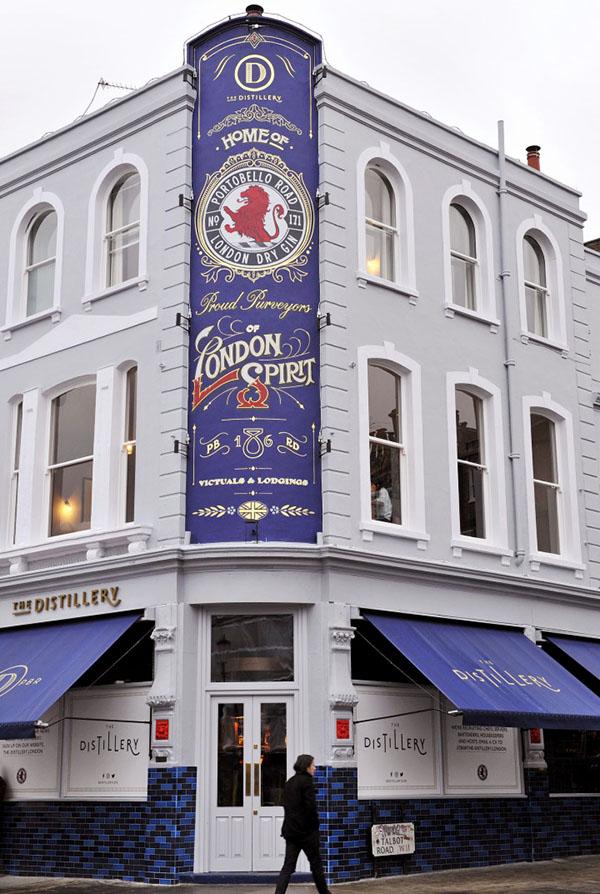 """Le bel immeuble rénové de ©The Distillery, premier """"boutique-hôtel"""" entièrement dédié au gin à Londres"""