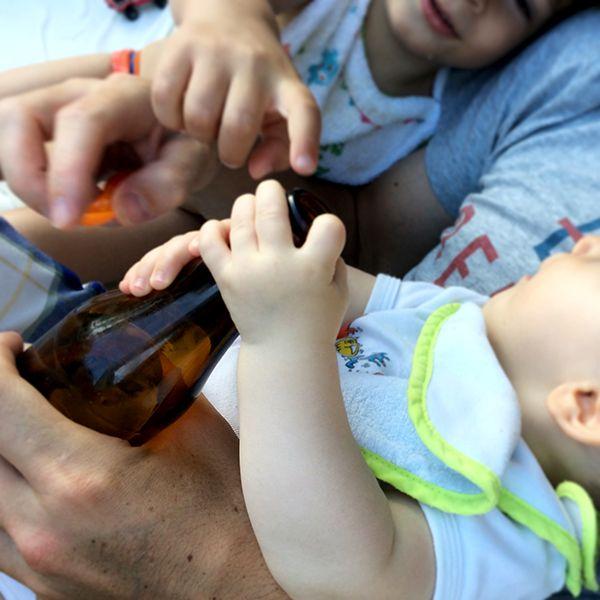 Touche pas à la bière de mon papa !