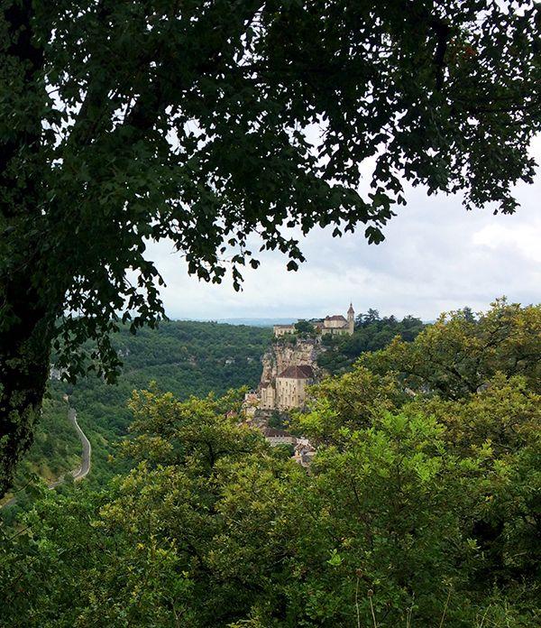 Vue sur le sanctuaire de Rocamadour