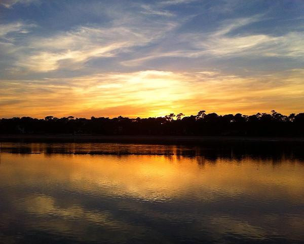 coucher de soleil à la Villa Seren à Hossegor - blog Bar à Voyages