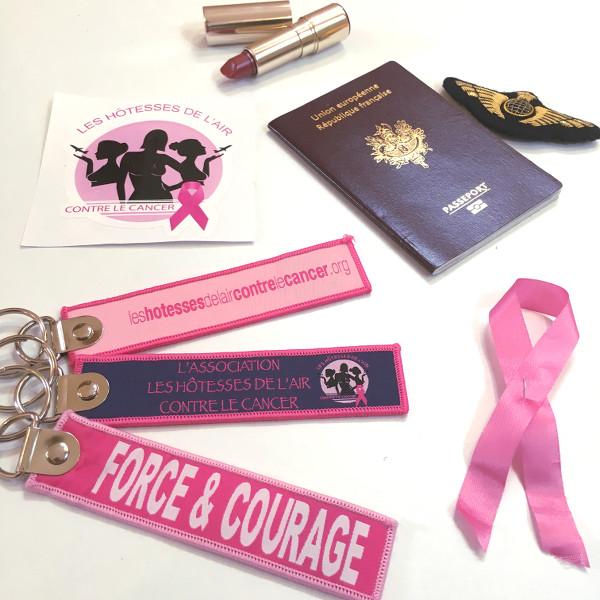 objets divers représentant L'association Les Hôtesses de l'Air Contre le Cancer
