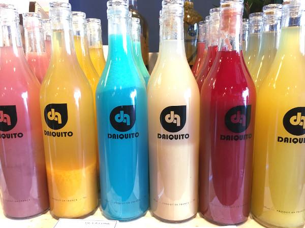 Bouteilles colorées de Daiquito
