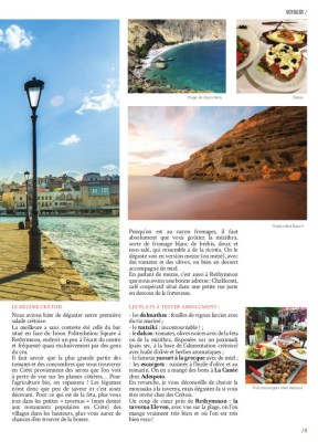 Article Crete du Magazine MaVilleAMoi n°44 - blog Bar à Voyages