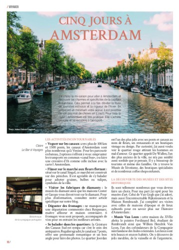 Article Amsterdam page 1 MaVilleAMoi45 - blog Bar a Voyages