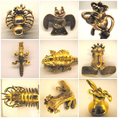 Objets en or au Musée de l'Or à San José