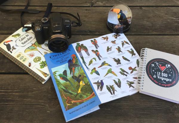 Matériel pour observer les oiseaux du Costa Rica
