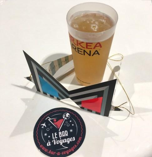 verre de bière et logo du blog Bar à Voyages