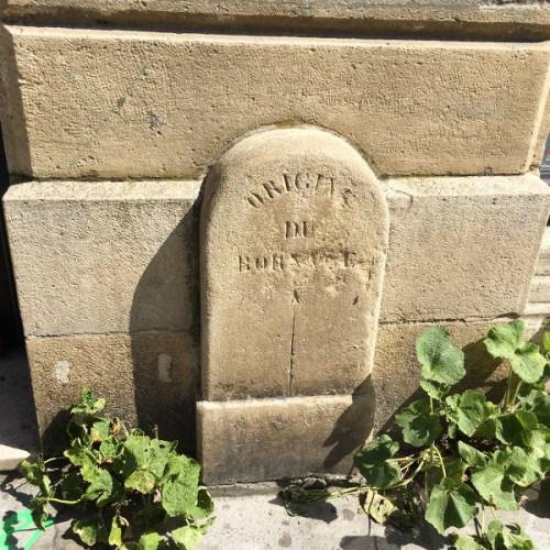 La borne d'origine du bornage à Bordeaux