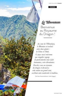 Article Bhoutan magazine Esprit Berry N°7