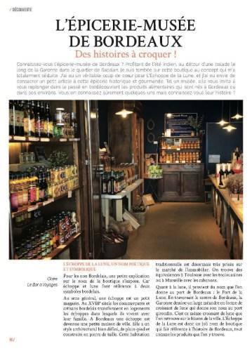 deuxième page de l'article sur l'Echoppe de la Lune dans le magazine MaVilleAMoi n°51