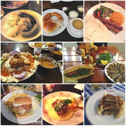 Différents plats et cuisine de Berlin
