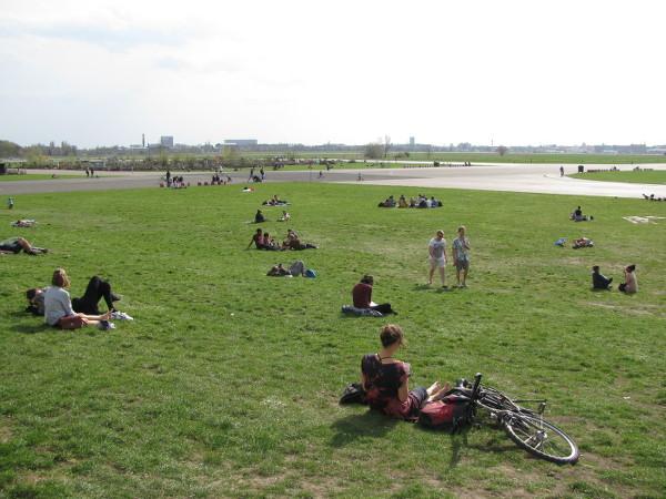 le parc sur l'ex aéroport de Tempelhof