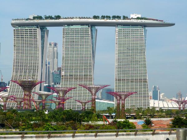 L'hôtel Marina Bay Sand à Singapour