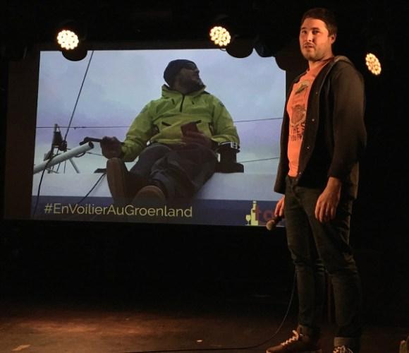 Loïc, speaker présente son voyage lors de Traveler On Stage