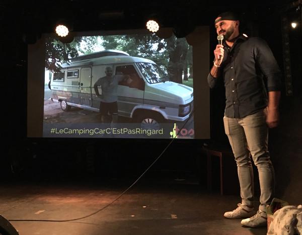 Philippe, speaker présente son voyage lors de Traveler On Stage