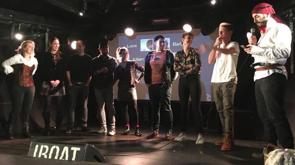 L'ensemble des speakers sur scène lors de Traveler On Stage