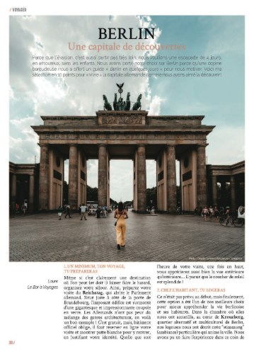 page 1 article Berlin magazine MaVilleAMoi n°52