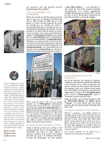 page 3 article Berlin magazine MaVilleAMoi n°52