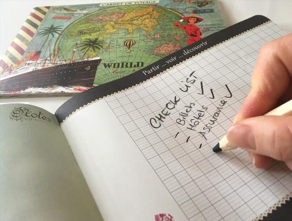constitution d'une checklist pour préparer votre voyage