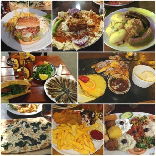 Différents plats de restaurants à manger à Berlin