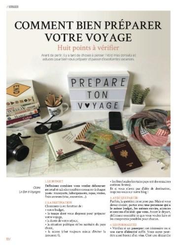 Page 1 de l'article préparer votre voyage du magazine MaVilleAMoi n°53